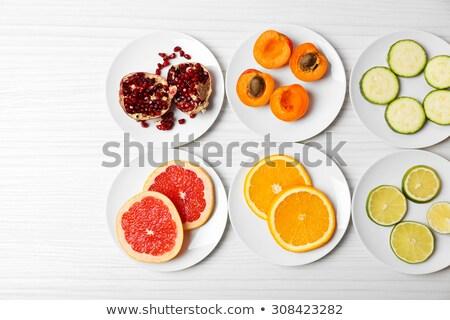 Naranja placa superior vista fitness Foto stock © YuliyaGontar