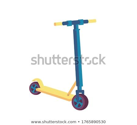 Wektora równowagi rowerów eco transportu Zdjęcia stock © pikepicture