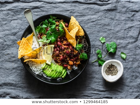 Burrito bowl on the table Stock photo © Alex9500