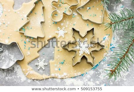 Noel · kurabiye · görmek · kadın · dokunmak - stok fotoğraf © homydesign
