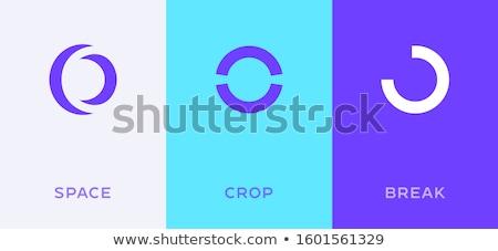 нулевой числа письме вектора икона логотип Сток-фото © blaskorizov
