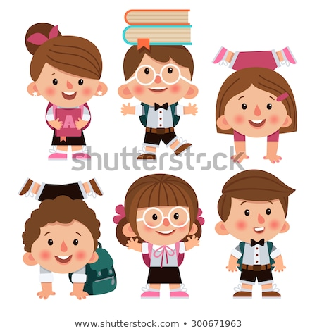 a brunette student character stock photo © bluering