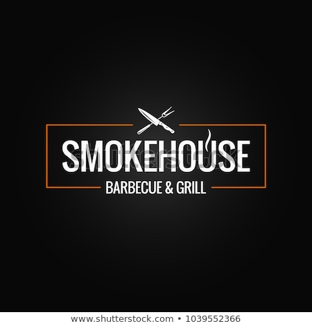 Stockfoto: Biefstuk · logo · vlees · label · silhouet · tekst