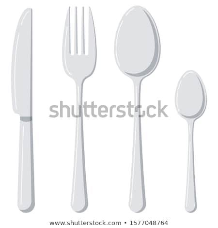 Vector ingesteld tafelgerei keuken teken diner Stockfoto © olllikeballoon