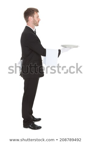 side view of a man in tuxedo looking away Stock photo © feedough
