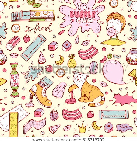 Bubble gum set pattern Сток-фото © netkov1