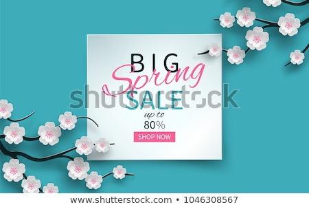 Springtime Label with Flowers, Web Offer Vector Stock photo © robuart