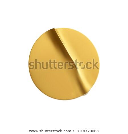 premium empty golden realistic sticker Foto stock © SArts