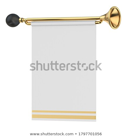 golden klaxon 3d stock photo © djmilic