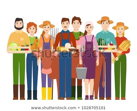 ストックフォト: 農家 · 文字 · 農業 · ベクトル · 男性