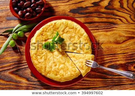Tortilla İspanyolca kafkas adam mutfak Stok fotoğraf © nito