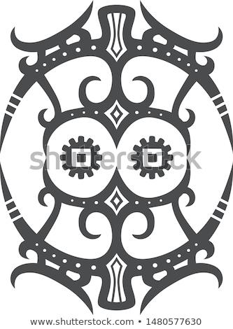 plemię · kulturalny · podpisania · tatuaż · sztuki · wektora - zdjęcia stock © vector1st