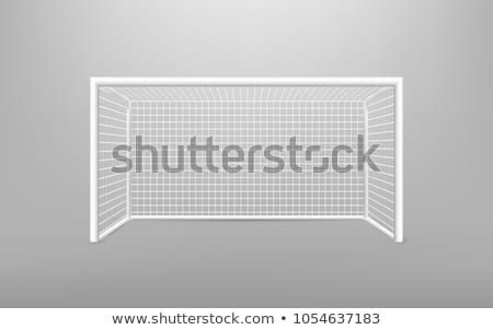 Football soccer goal. Post of football goal and white net Stock photo © matimix