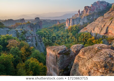 Mountain and canyon landscape view Stock photo © dariazu