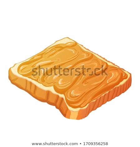 étvágygerjesztő · szendvics · vaj · fehér · csészealj · sajt - stock fotó © microolga