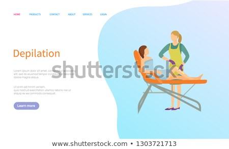 Depilation in Beauty Salon, Spa Procedure Website Stock photo © robuart