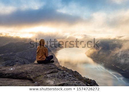 Pulpit Rock Preikestolen Beautiful Nature Norway Stock photo © cookelma