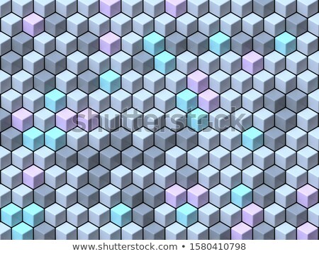 Abstract geometric four pastel color Cubes background 3D Stock photo © djmilic