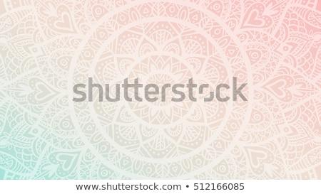 Mandala desen yalıtılmış örnek çiçek mavi Stok fotoğraf © bluering