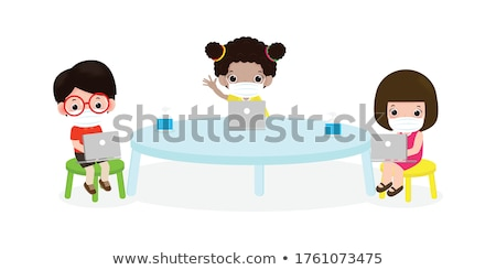 Infographic for coronavirus 2019-nCov with a young girl wearing a medical mask. Virus outbreak data  Stock photo © BlueLela