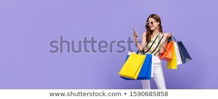 Bela mulher venda sorrir sensual moda Foto stock © Suriyaphoto