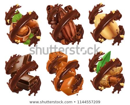 caramel nuts chocolate stock photo © foka