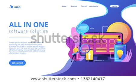 Kern ontwikkeling landing pagina mensen Stockfoto © RAStudio