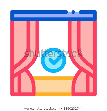 backstage scene icon vector outline illustration Stock photo © pikepicture
