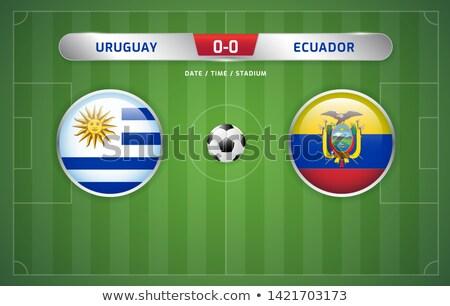 Уругвай против Япония футбола матча иллюстрация Сток-фото © olira