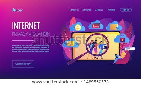 Digital ética privacidade aterrissagem página on-line Foto stock © RAStudio
