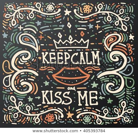 öpücük bana bağbozumu baskı Stok fotoğraf © ShustrikS