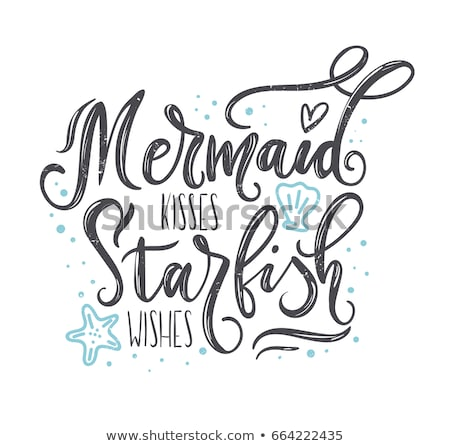 Starfish pérolas concha coração variedade branco Foto stock © marilyna