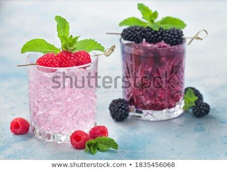 очки розовый соды лимонад BlackBerry лет Сток-фото © DenisMArt