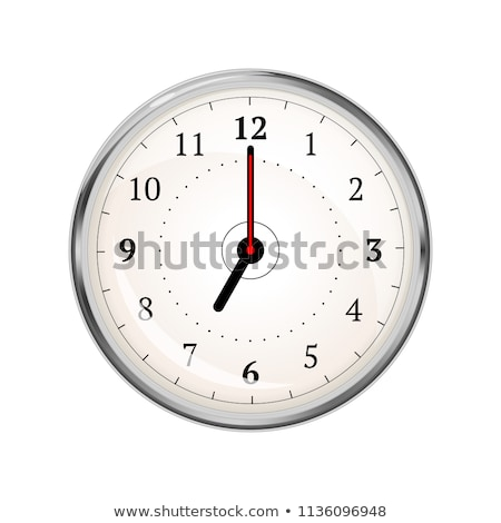 Realistic clock face showing 07-00 on white Stock photo © evgeny89