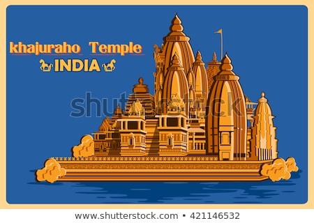 有名な 石 寺 インド ユネスコ 世界 ストックフォト © dmitry_rukhlenko