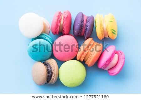 Colorido macarons diferente gosto amarelo festa Foto stock © grafvision