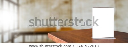 Akril áll 3d illusztráció izolált fehér papír Stock fotó © montego