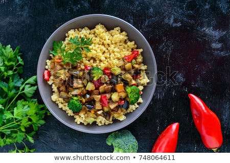Stewed healthy bulgur with vegetables Stock photo © furmanphoto