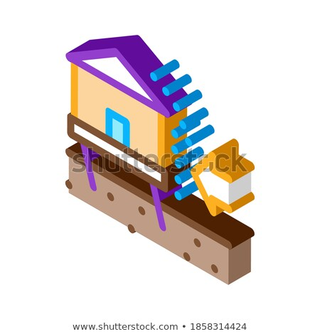 House Demolish isometric icon vector illustration Stock photo © pikepicture