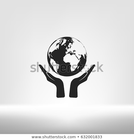hand hold world social network stock photo © vichie81