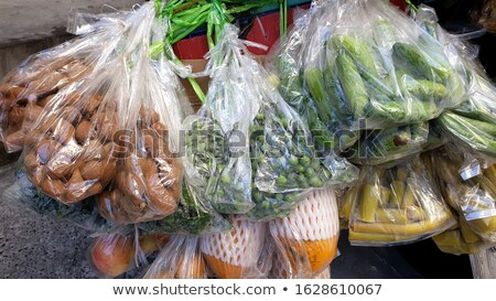 Many kinds of vegetables packed in a plastic bag Stock photo © nuttakit