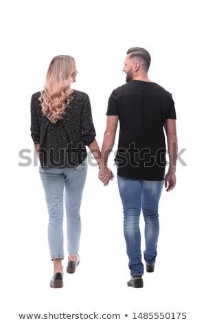 happy couple back to back stock photo © photography33