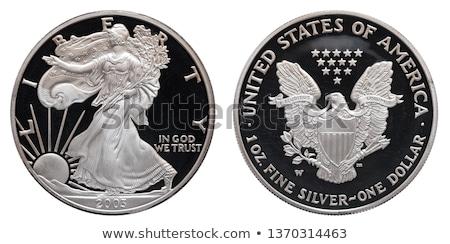 americano · prata · Águia · dólar · moeda · preto - foto stock © keko64