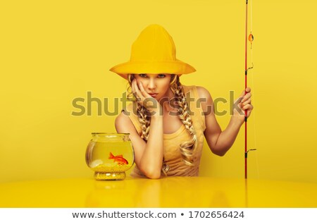 fisherwoman portrait stock photo © petrmalyshev