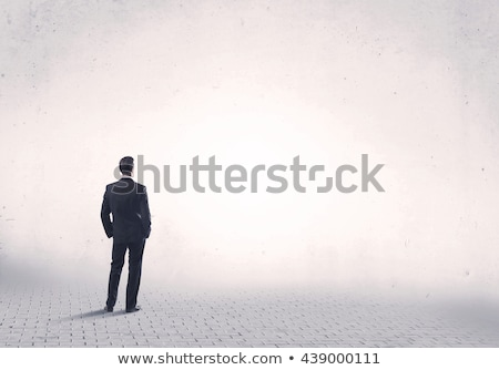 ストックフォト: 深刻 · ビジネス男性 · 立って · 戻る · 画像