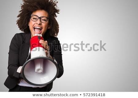 business woman shouting stock photo © feedough