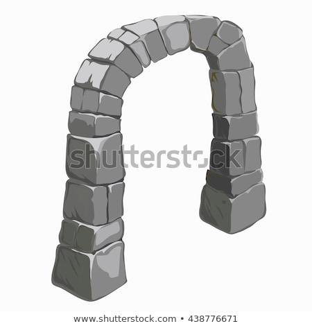 Old Stone Archway Stok fotoğraf © lady-luck