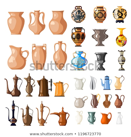 Antique porcelain jar in modern style. Stock photo © Pilgrimego