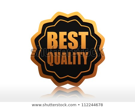 best quality starlike label Stock photo © marinini