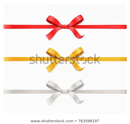 gold satin bow and red vintage background stock photo © adamson